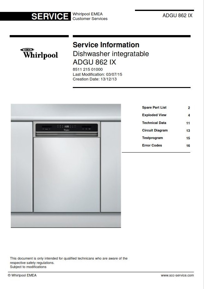Technical Manual Whirlpool