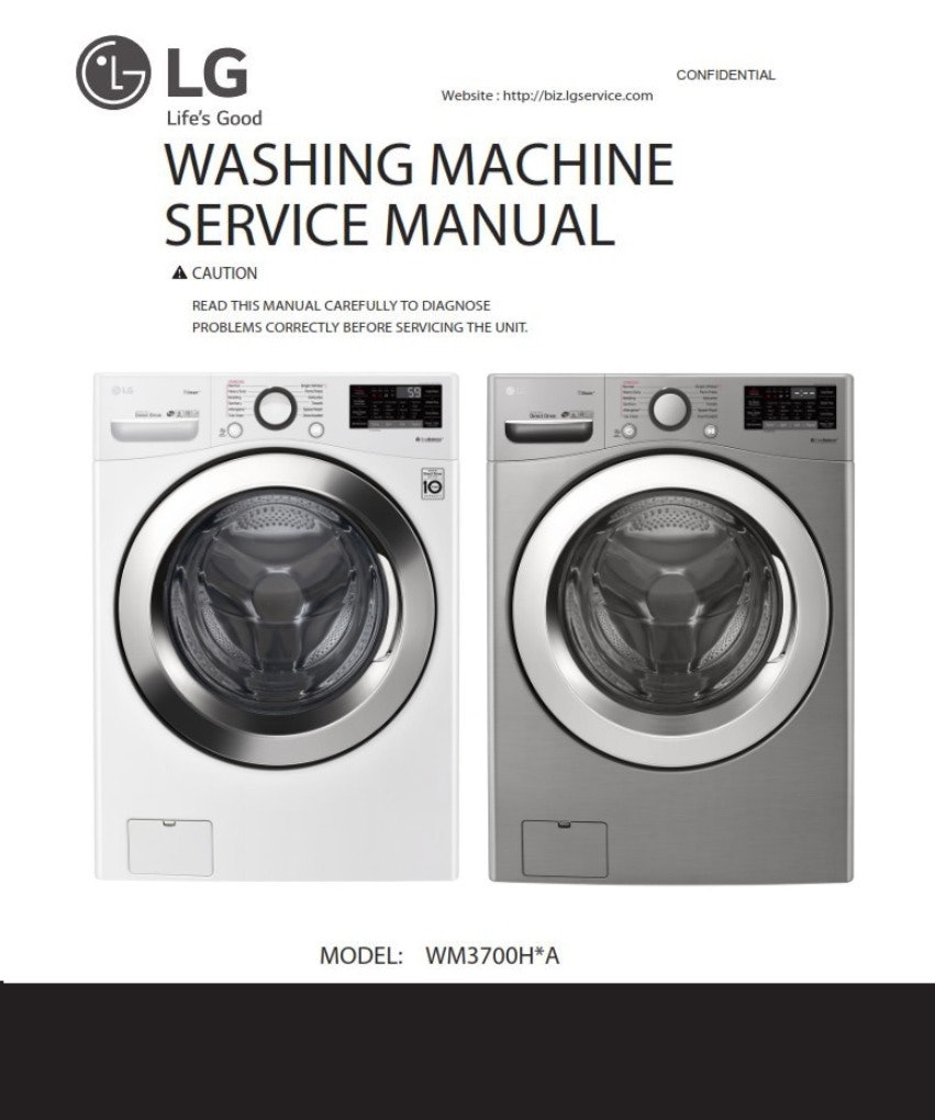 LG WM3700H Washer Original Service Manual And Repair Guide