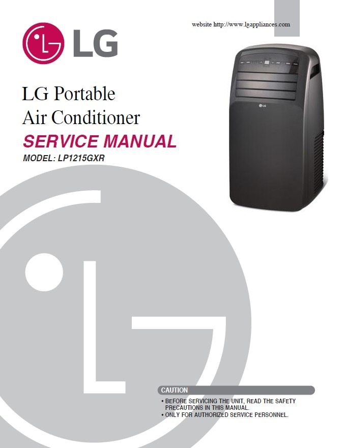 Lg Lp1215gxr Portable Air Conditioner Service Manual Manual Guide