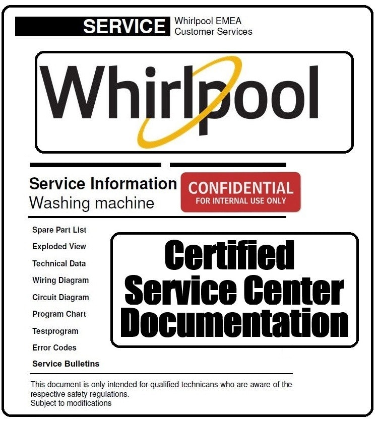 Whirlpool AWE 6730 6730-P Washing Machine Service Info Manual - ANY Service  ManualANY Service Manual