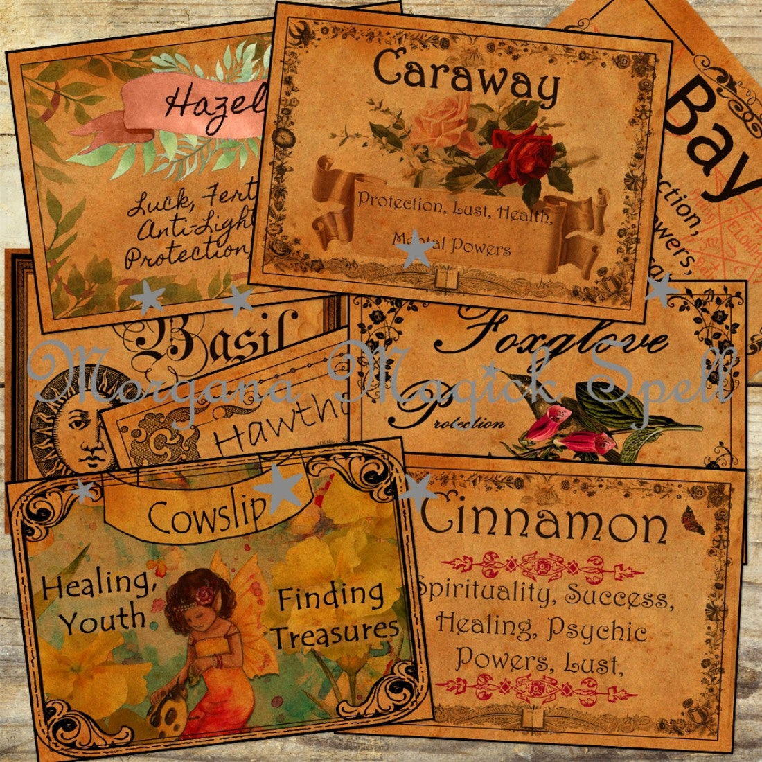 70 Witchcraft Apothecary Labels Size 1 5 Quot X 2 Quot Morgana