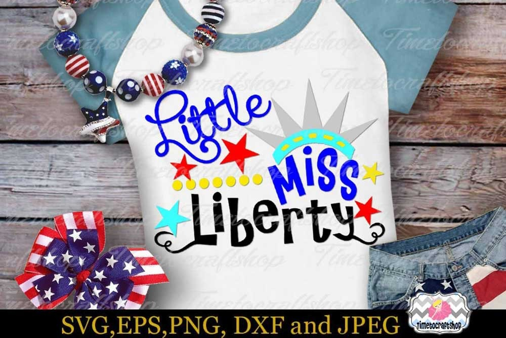 49+ Little Miss Fourth Of July / Svg Png Dxf Image