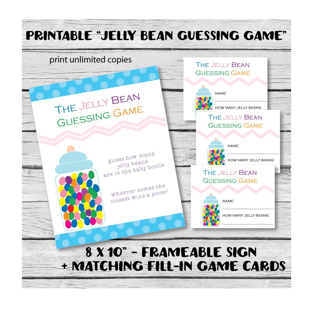 Printable Candy Jelly Bean Baby Shower Guessing Game Print It Baby