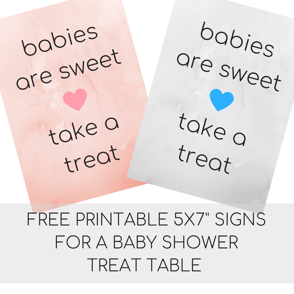 Instant Download Teddy Bear Baby Shower Take A Treat Sign 8x10 Babies are Sweet Please take a Treat Sign TBBS01 Bear Baby Shower Sign