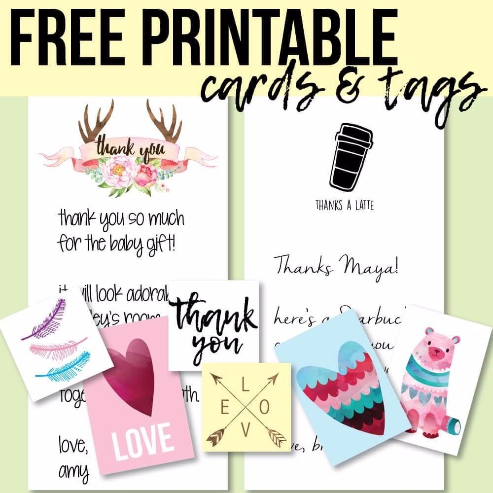 free printable tags and thank you cards  print it baby