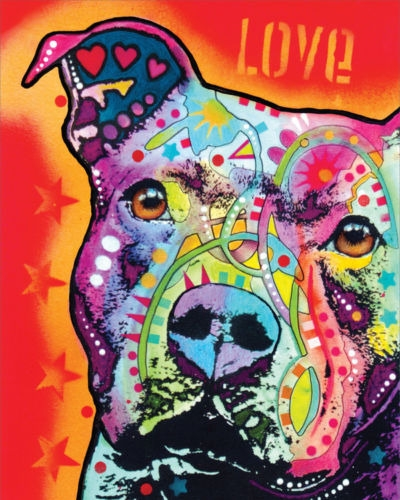 Dog is Love by Dean Russo Dog Print 8x10