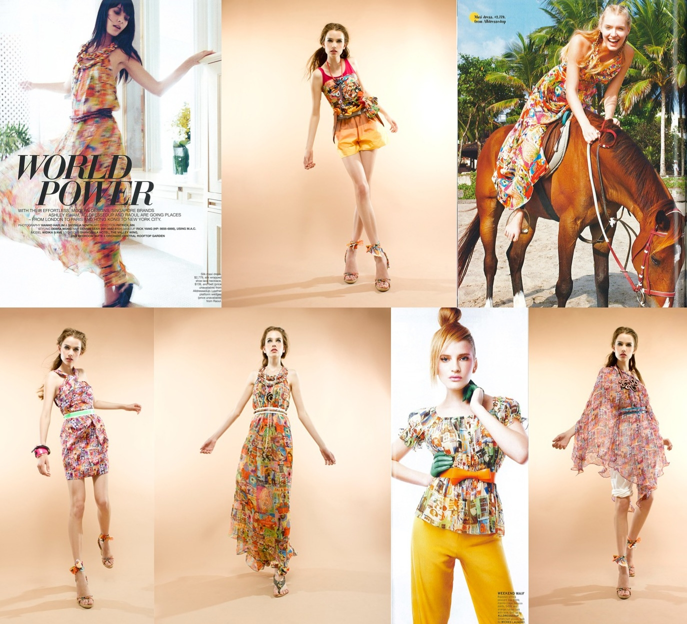 Licensing collaboration with Fashion House 'ALLDRESSEDUP'.  This collection was shown in 25 countries.