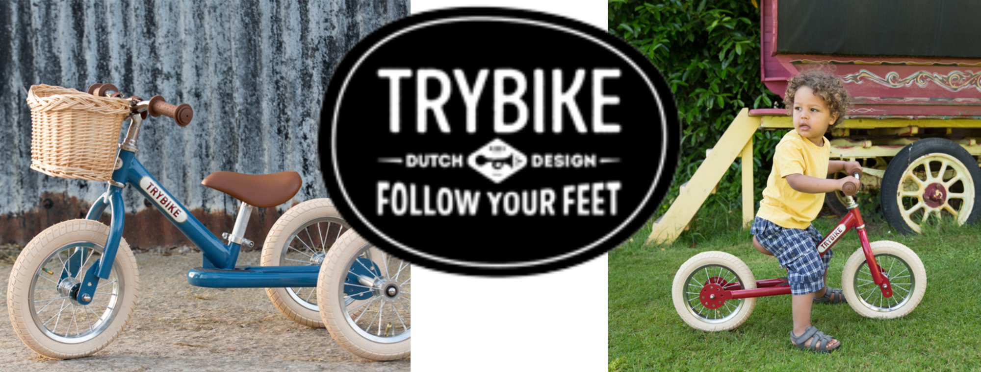 2-in-1 balance bike made of steel. Like the Trybike Wood the Trybike Steel is an adjustable balance bike that can be converted from a tricycle into a bicycle. With the same benefits as the Trybike Wood, learning to walk and ride made easy.