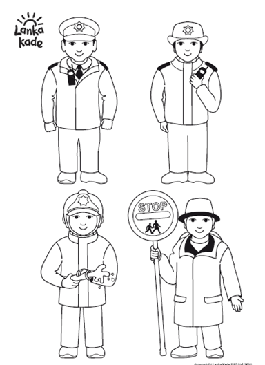 People Who Help Us Colouring Sheet