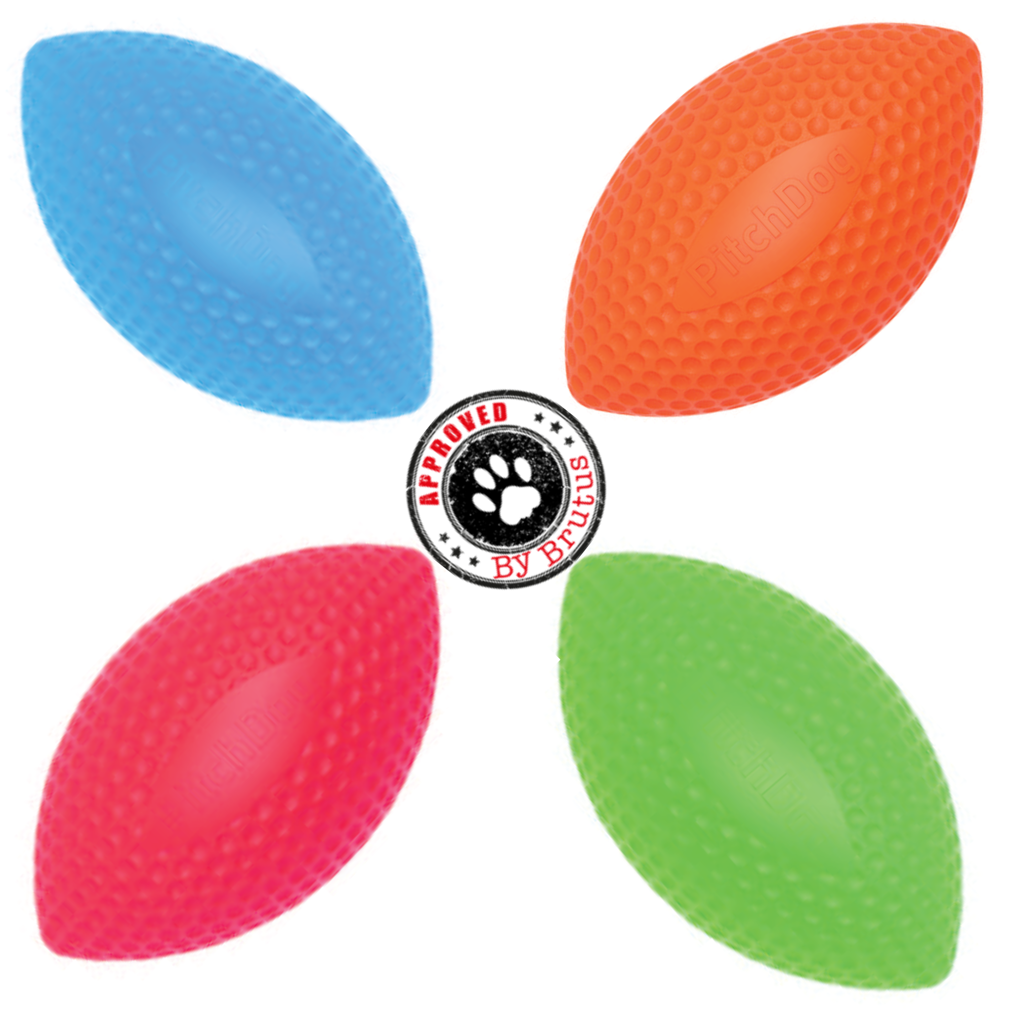 Dog and puppy toys, tough, brightly coloured, floating toys, eco friendly toys, below RRP, tested and approved by Brutus