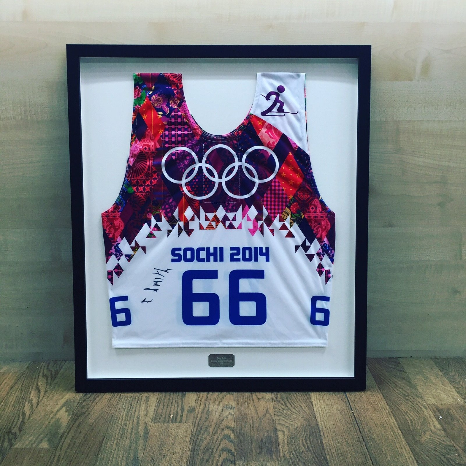 signed ski vest from Sochi 2014