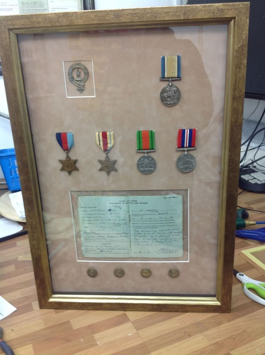 medals and service book