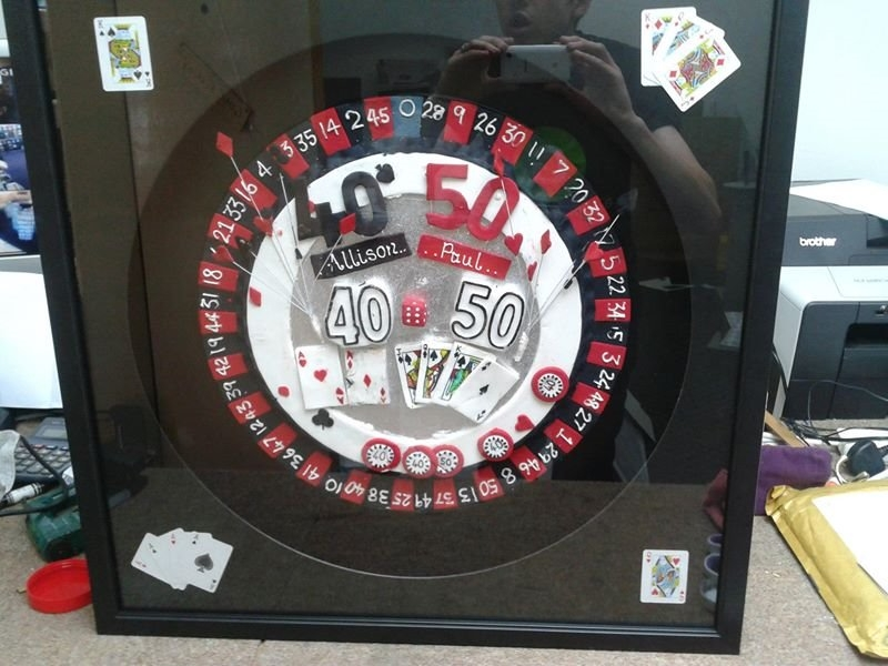 Dartboard Cake Topper