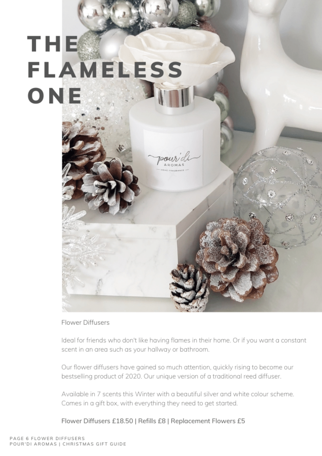 The Flameless One. Flower Diffusers
