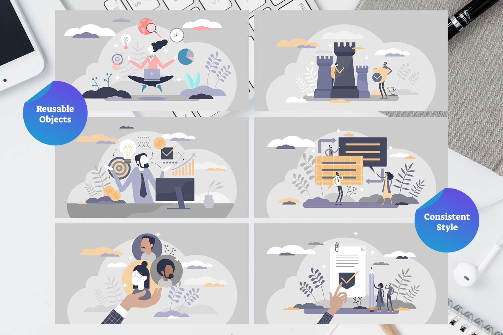 Canva Template Startup Illustrations