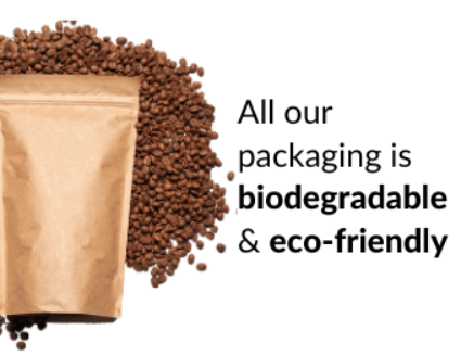 All our packaging is biodegradable & eco-friendly
