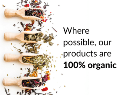 Where possible our products are 100% organic
