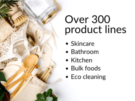 Over 300 ethically sourced products