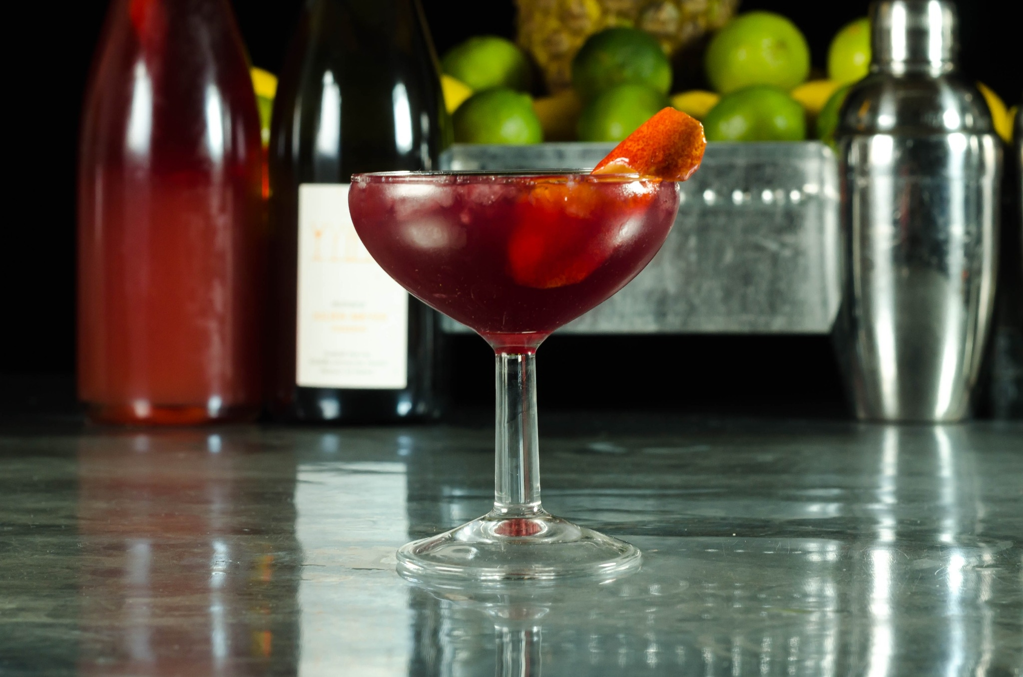 Seasonal Champagne Cocktail