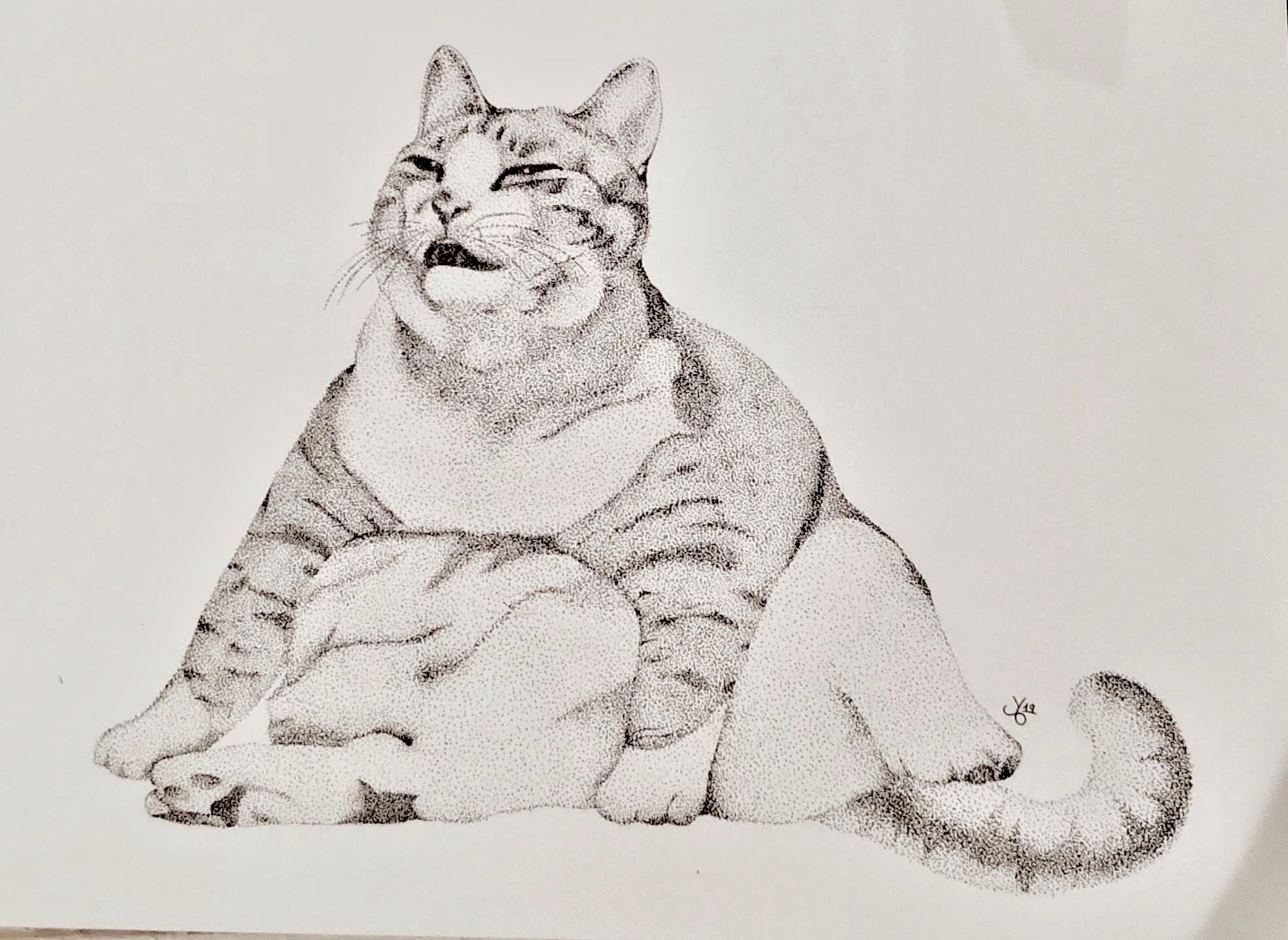 Pointillism Meme Cat