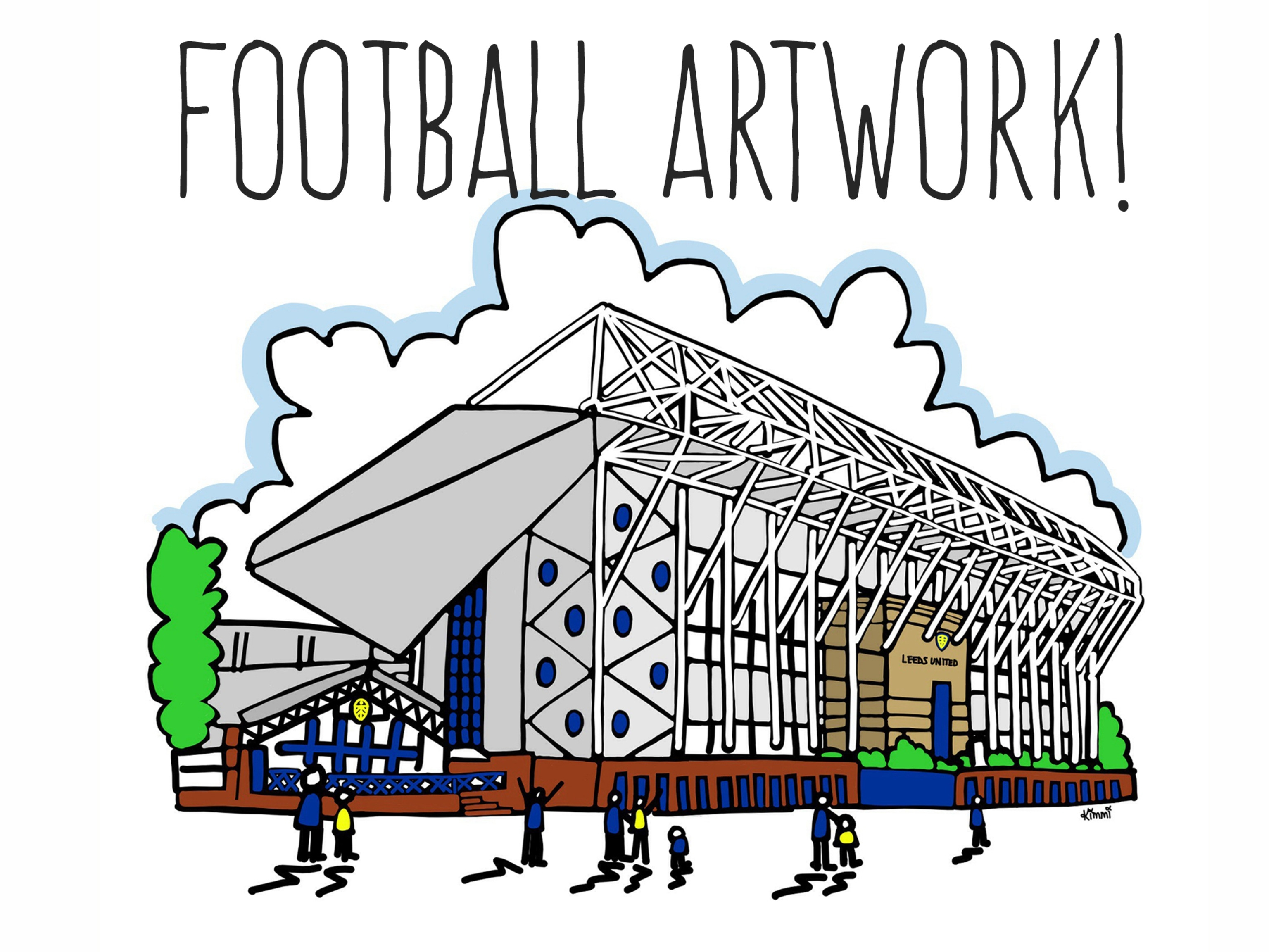 Leeds United Elland Road Artwork