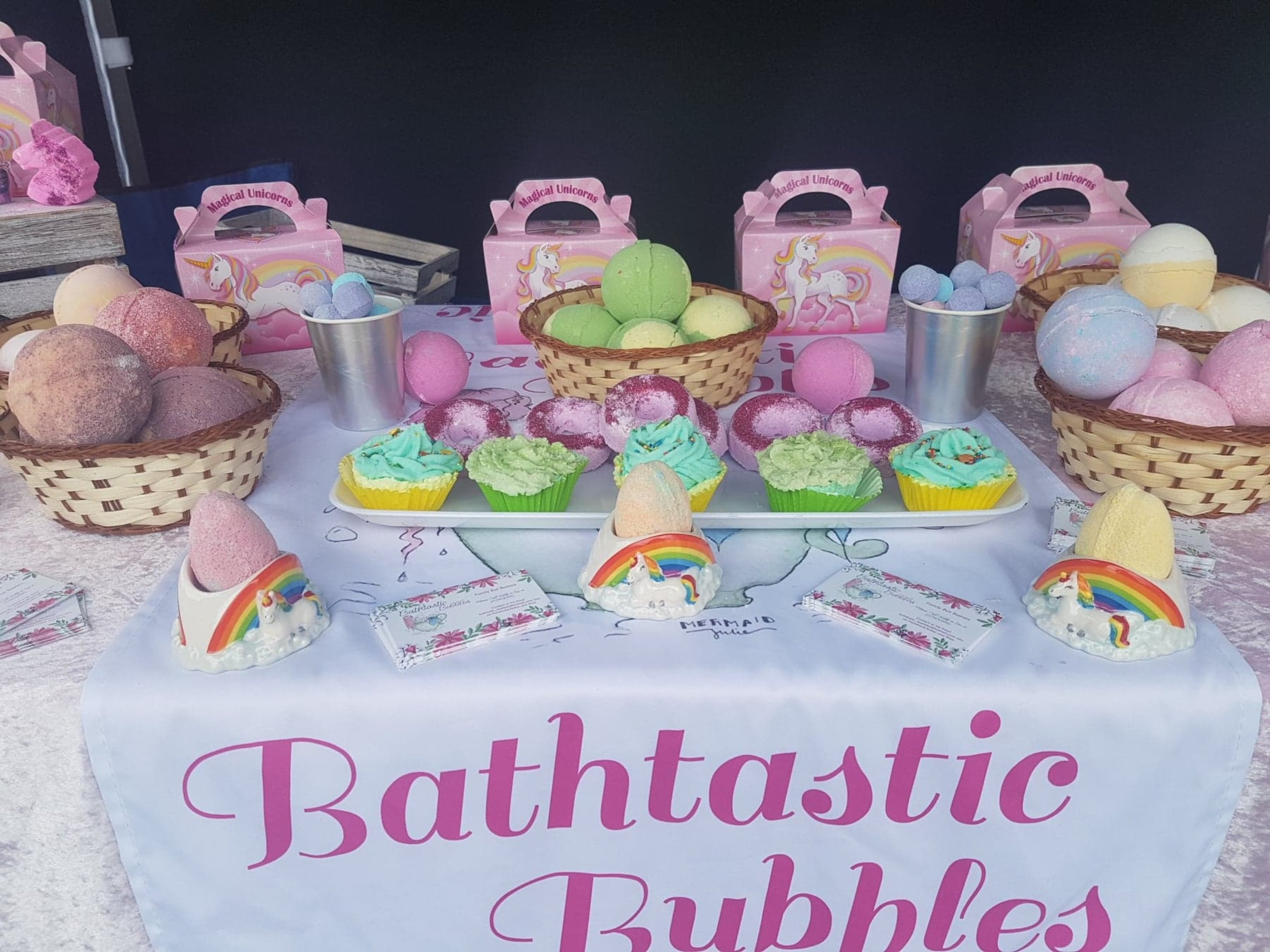Bathtastic Bubbles is a family run business, we hand make everything and we attend many events. We pride ourselves on customer service. If you don't see what you are looking for no worries drop me a message and I will see what I can do.