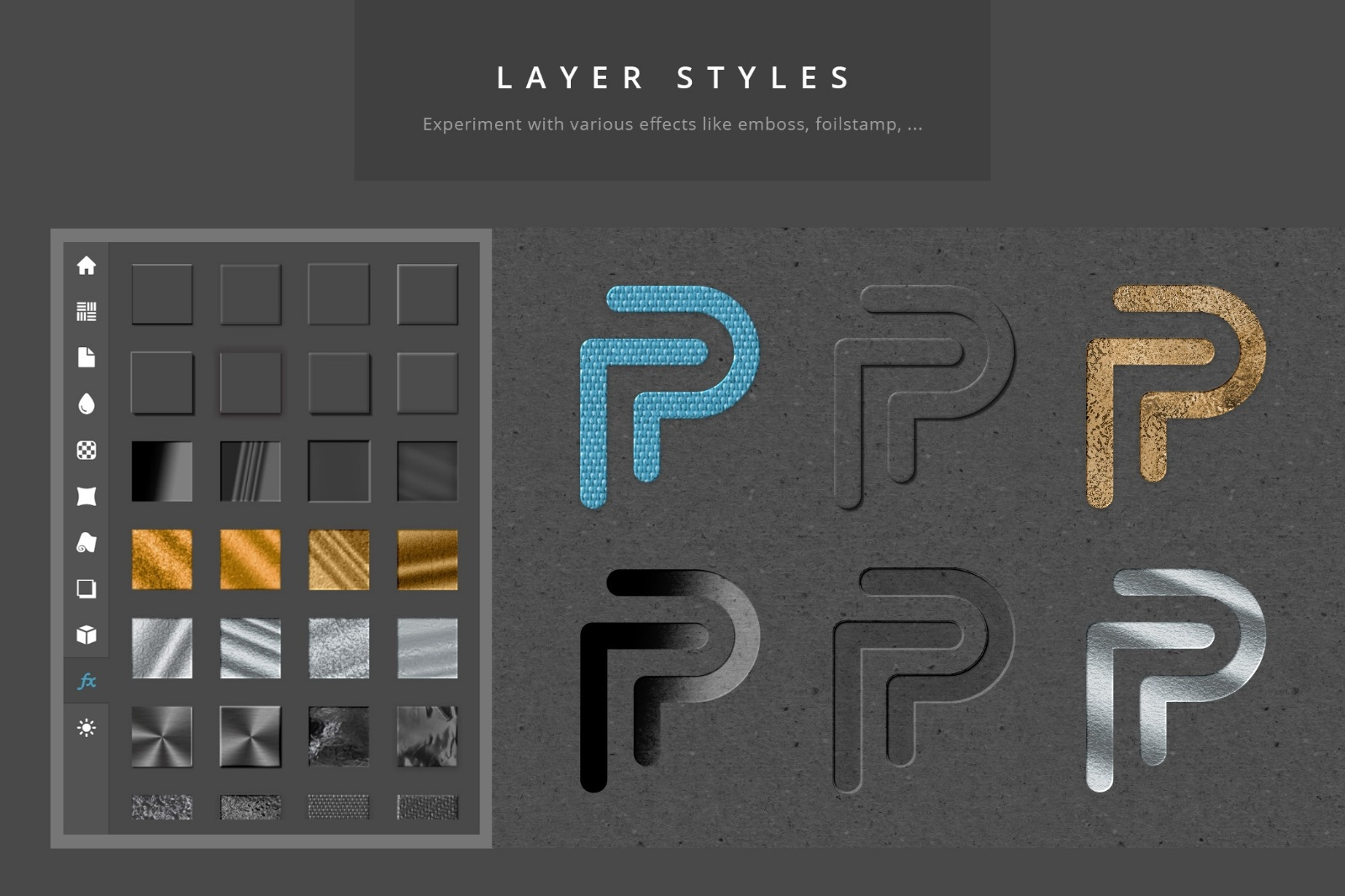 Paper Panel - Layerstyles