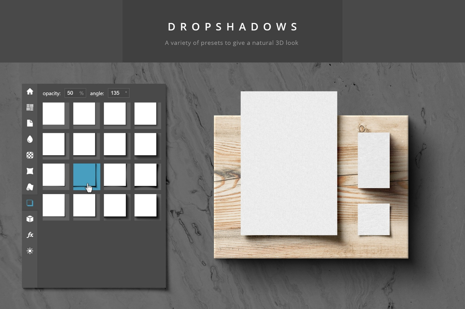 Paper Panel - Dropshadows