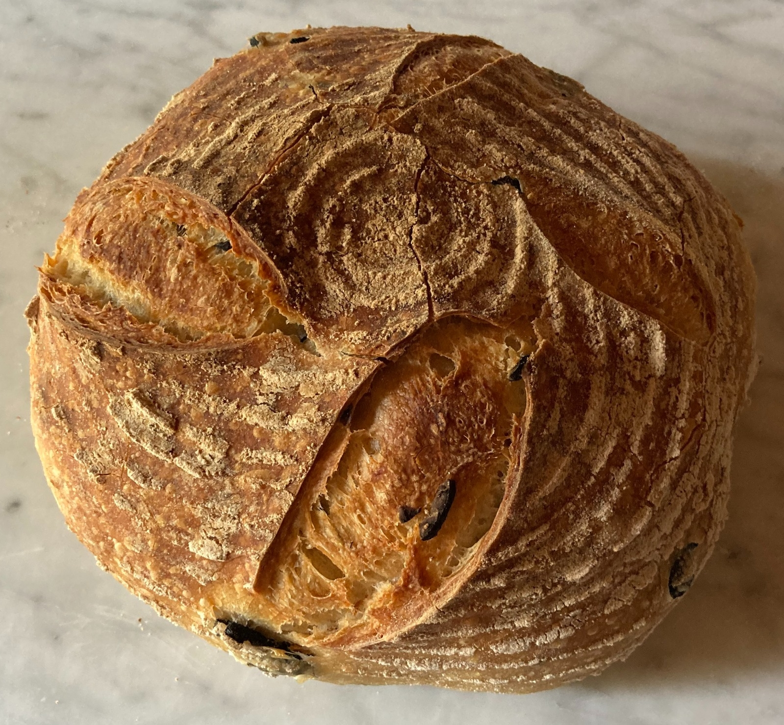 Sourdough olive and rosemary Charlton Bakehouse loaf