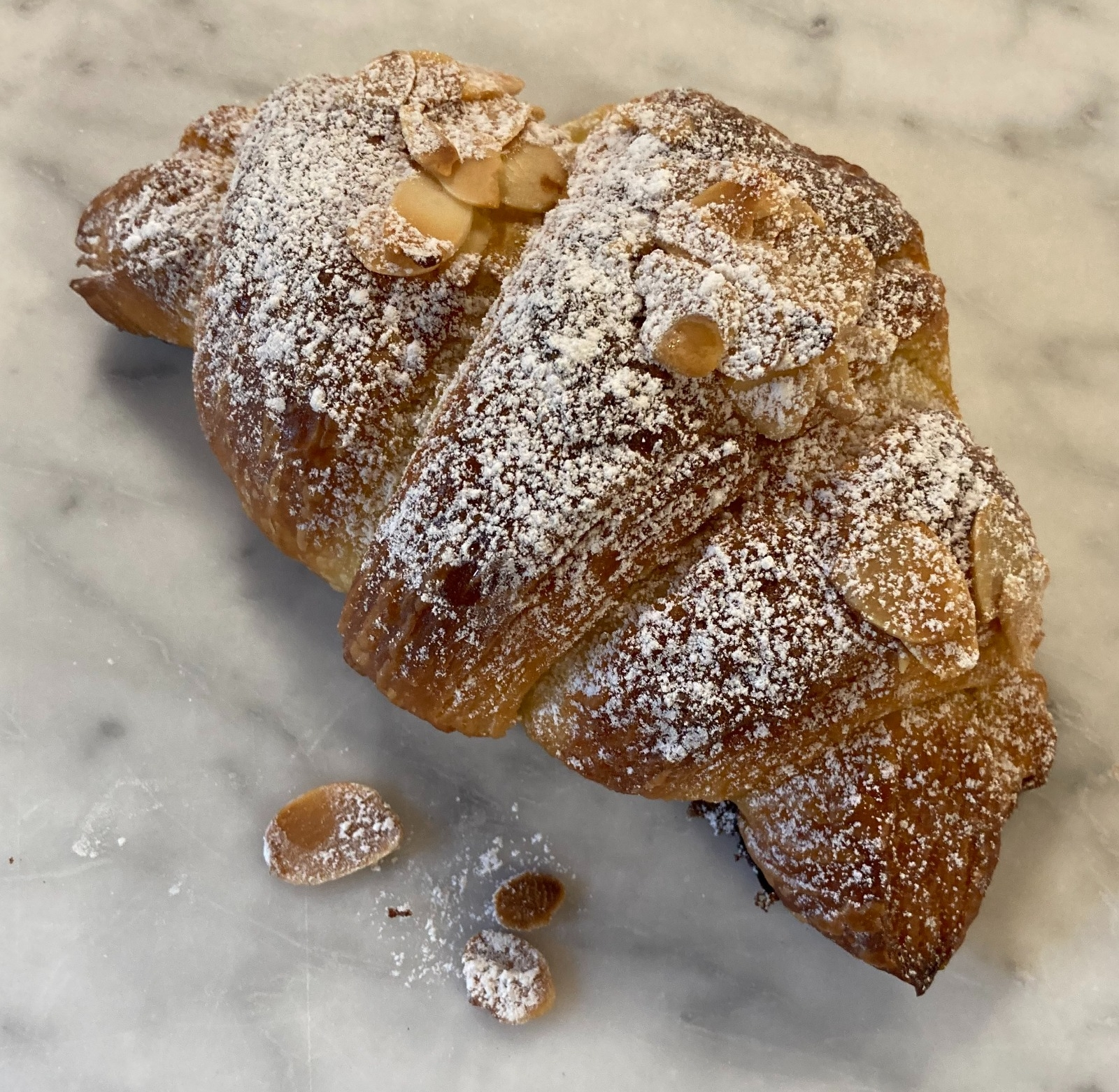 Almond Croissant from small-batch bakery Charlton Bakehouse
