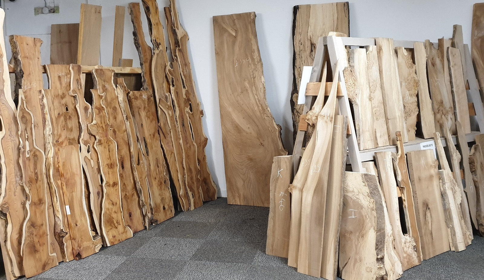 selection of hardwoods