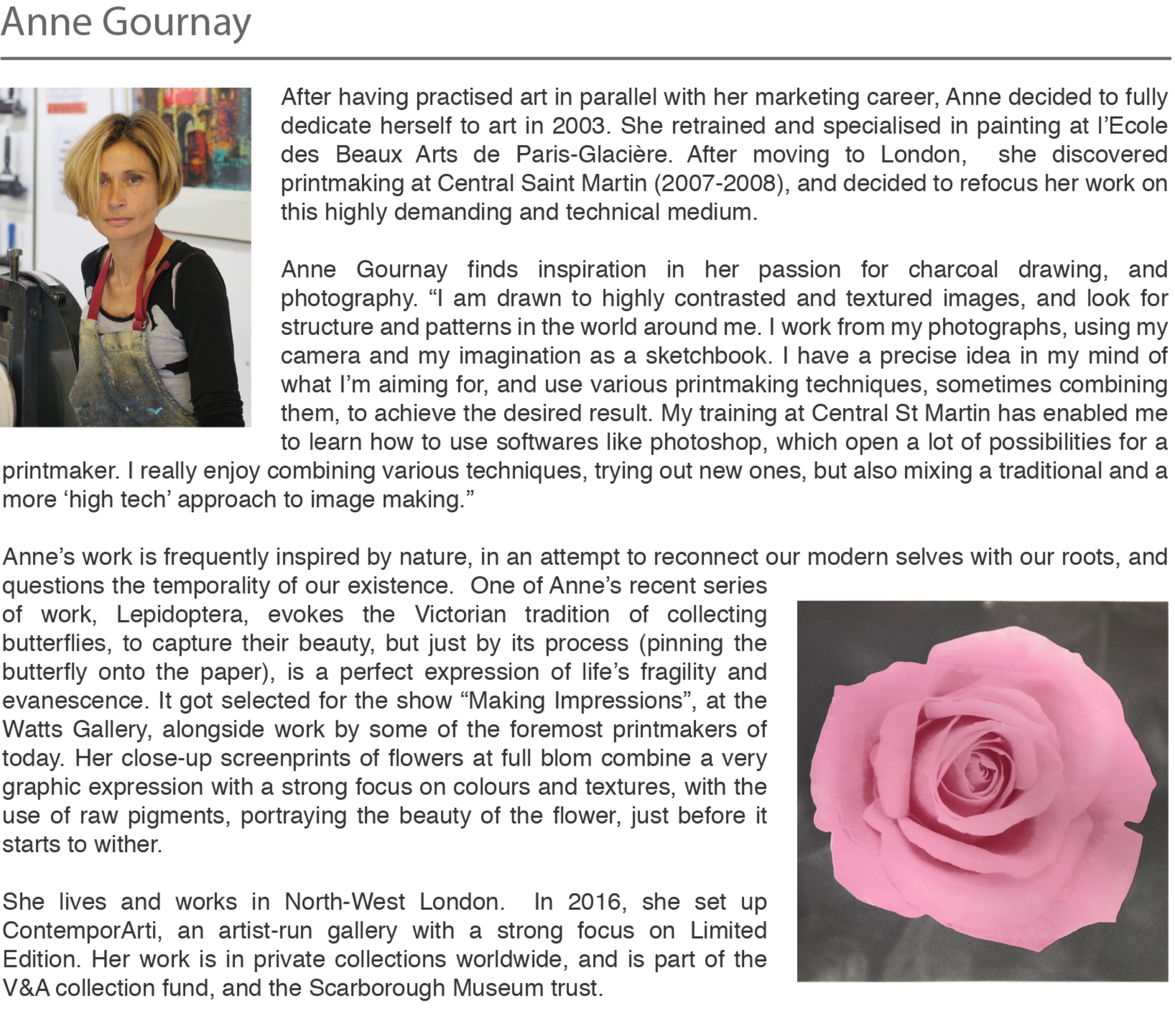 Anne Gournay's profile