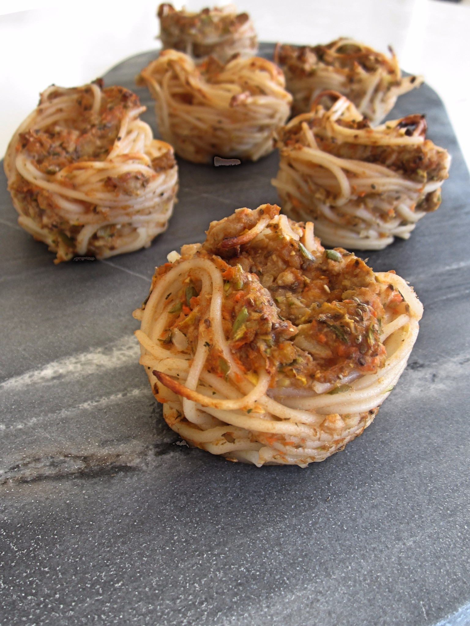 Allergy friendly spaghetti cakes - free of the top 9.