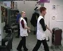One complete day in german DDR / GDR students salon. Shampooing, perms, haircuts, in apron.  102 min