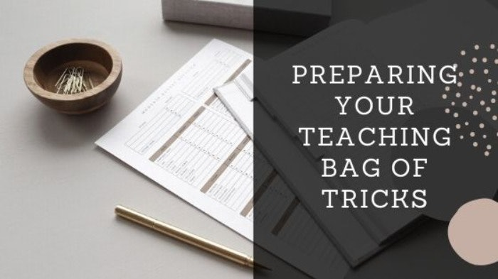 Getting your bag of tricks organised