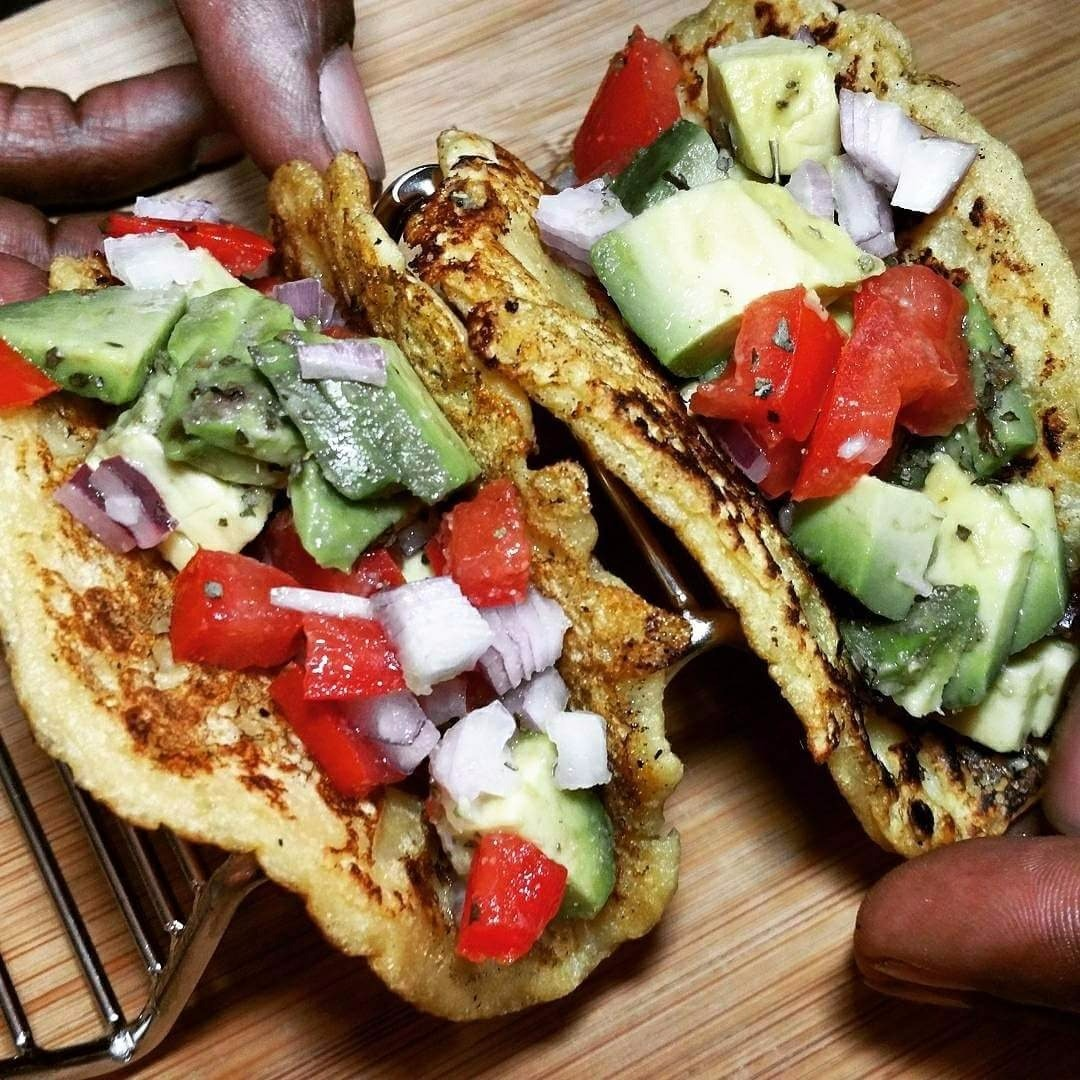 BEYOND VEGAN: Garbanzo Soft Shell Tacos