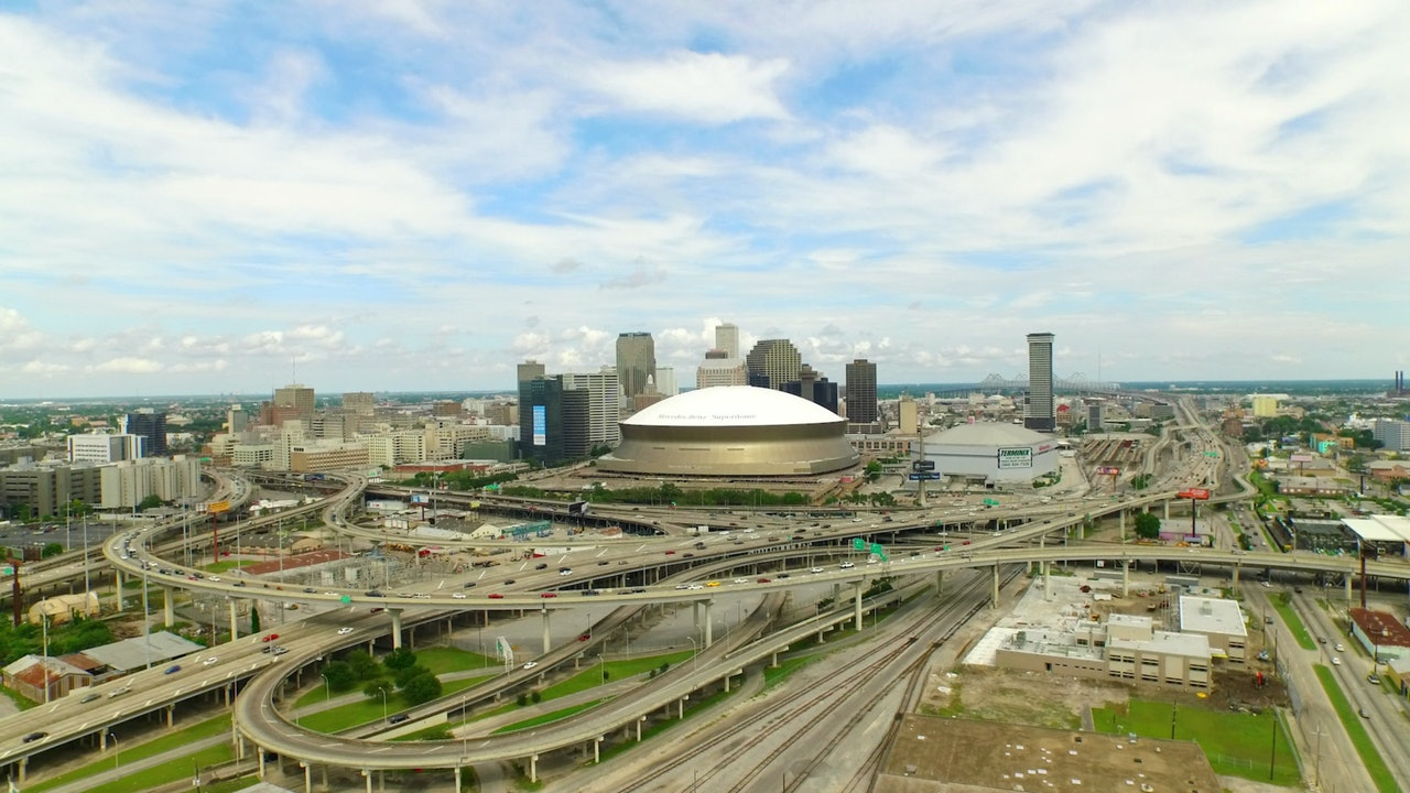 New Orleans aerial stock footage