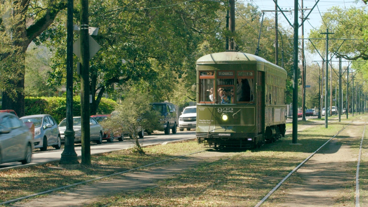 New Orleans streetcar stock footage