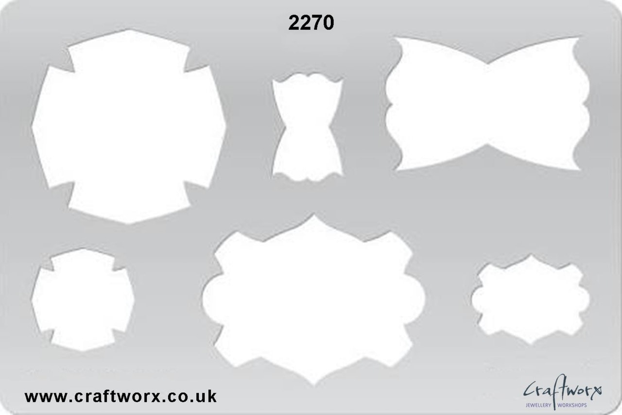 Craftworx Metal Clay Template #2370