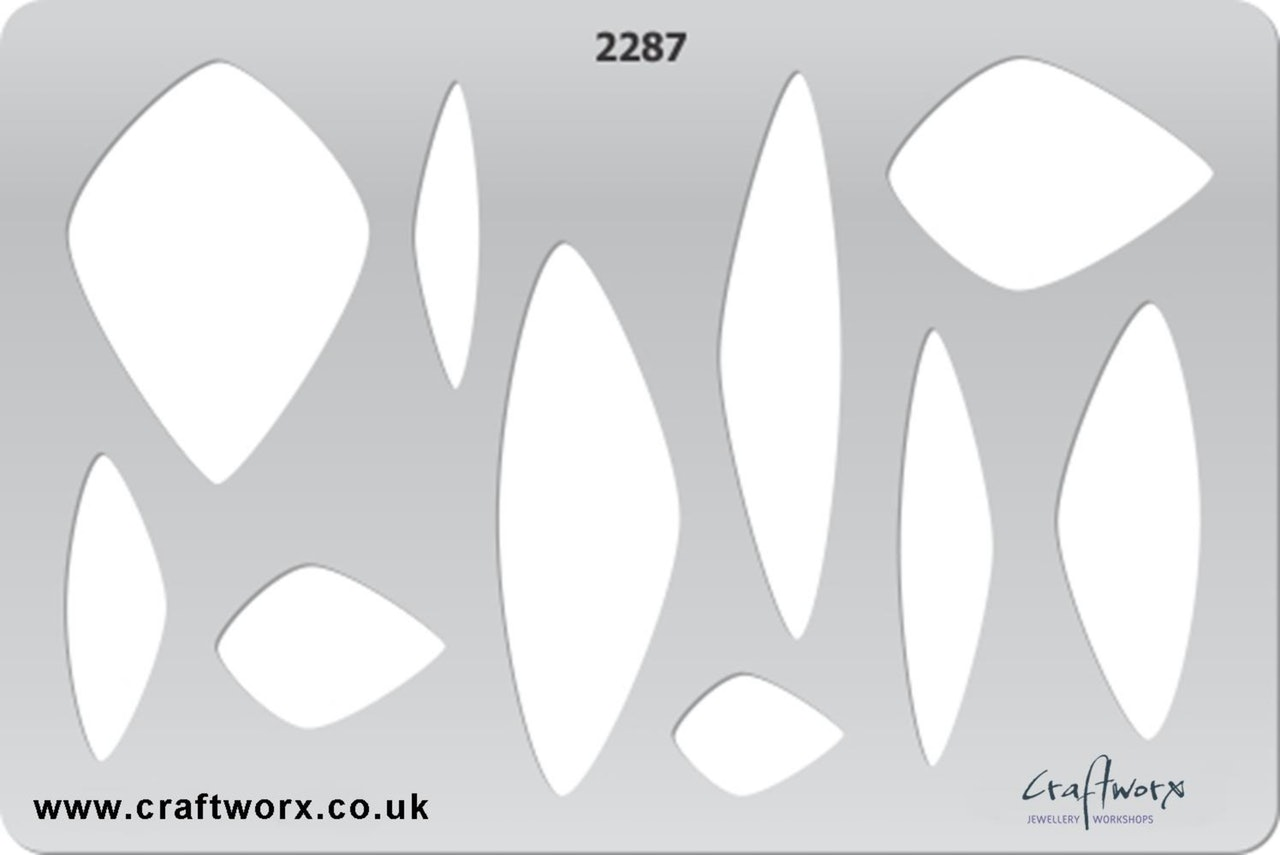 Craftworx Metal Clay Template #2287