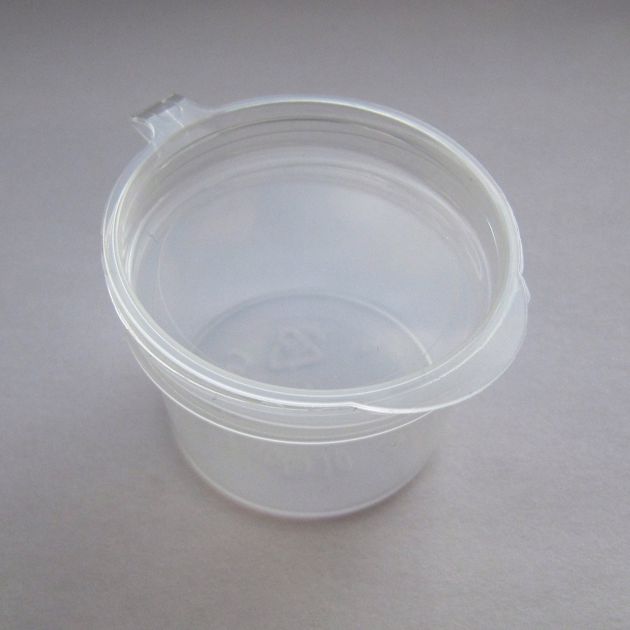 Plastic Pot with Hinged Lid