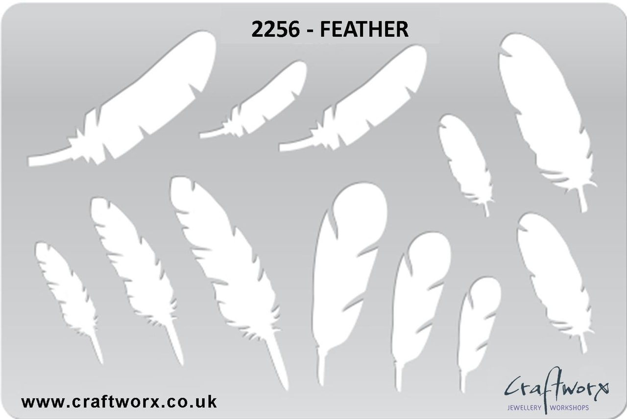 Craftworx Metal Clay Template #2256