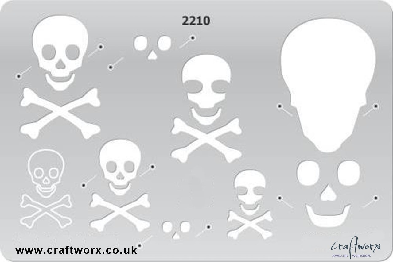 Craftworx Metal Clay Template #2210