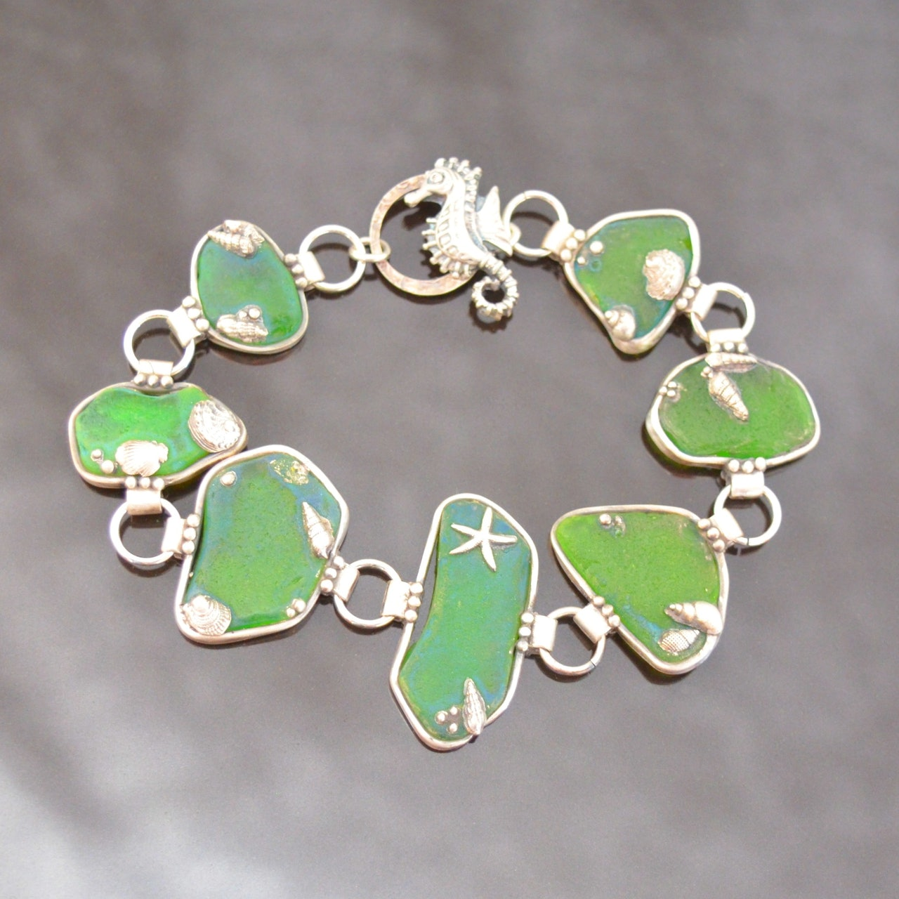 Sea Glass Inspired Silver Clay Jewellery