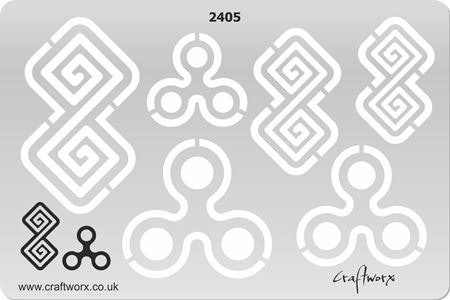 Craftworx Metal Clay Template #2405