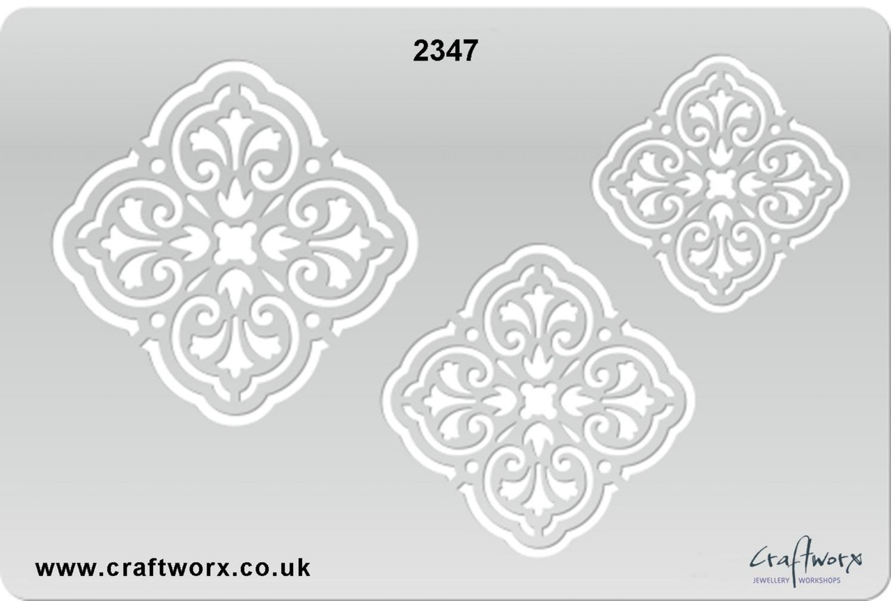 Craftworx Metal Clay Template #2347