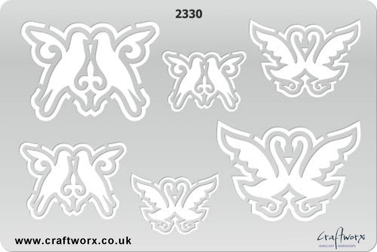 Craftworx Metal Clay Template #2330
