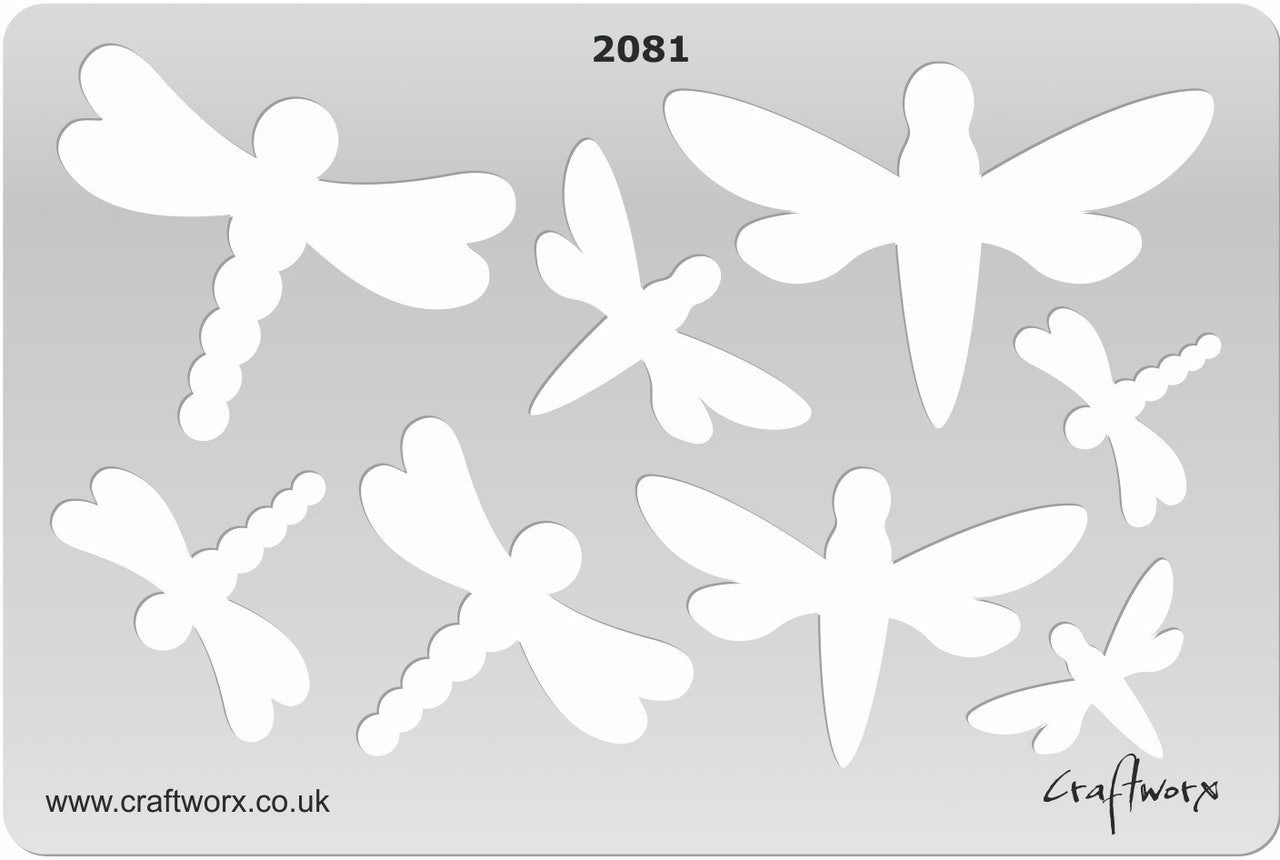 Craftworx Metal Clay Template #2081