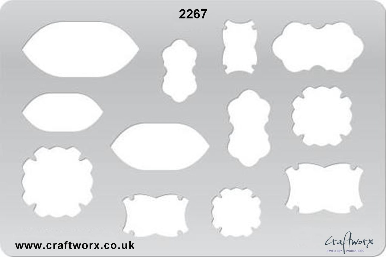 Craftworx Metal Clay Template #2267
