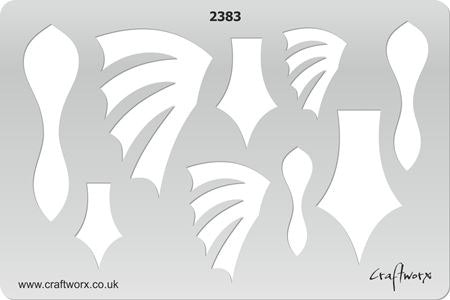Craftworx Metal Clay Template #2383